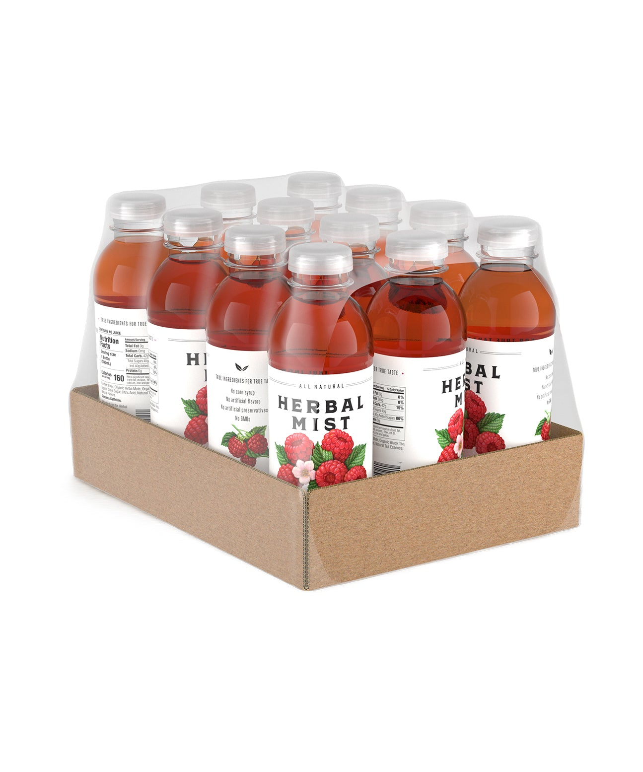 Raspberry Black Tea & Yerba Mate (12-Pack)