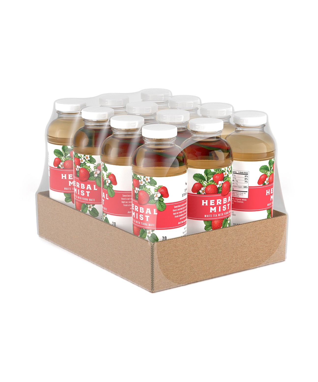 Strawberry White Tea & Yerba Mate (12-Pack)