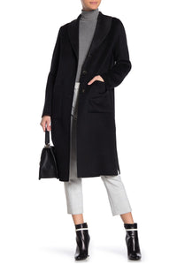 Tahari Jenna Two Tone Wool Blend Coat Size S (NWT)