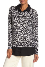 Load image into Gallery viewer, Adrianna Papell Leopard Print Twofer Sweater Size L (NWT)