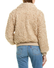 Load image into Gallery viewer, Moon River Fuzzy Bomber Jacket Size M (NWT)
