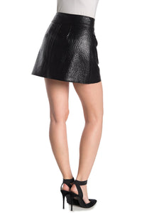 BLANKNYC American Hustler Faux Ostrich Leather Mini Skirt Size 28 (NWT)