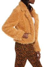 Load image into Gallery viewer, BLANKNYC Faux Shearling Teddy Coat in Sahara Size XL (NWT)