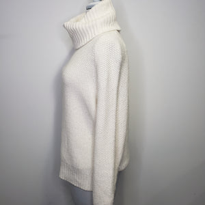 Madewell Varick Turtleneck Sweater in Antique Cream Size XS