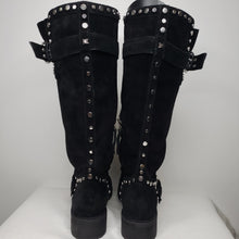 Load image into Gallery viewer, Sam Edelman Deryn Suede Tall Studded Boot Size 8 (NWT)