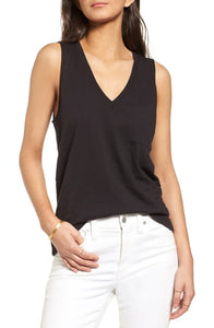 Madewell Whisper Cotton V-Neck Tank Size XXL (NWT)