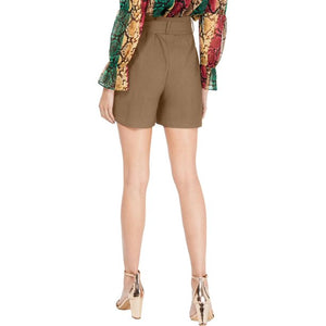 INC International Concepts Paperbag High Rise Belted Shorts Size 2 (NWT)