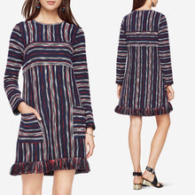 Load image into Gallery viewer, BCBGMAXAZRIA Kathy Striped Boucle Dress Size XXS