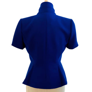Tahari Royal Blue Short Sleeve Blazer Size 4