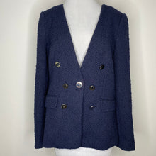 Load image into Gallery viewer, Calvin Klein Tweed 7-Button Blazer in Twilight Size 12 (NWT)