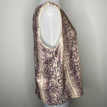 Load image into Gallery viewer, INC International Concepts Sequined Snake-Embossed Tank Top in Pale Mauve Size L (NWT)