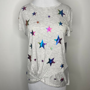 INC International Concepts Twisted Rainbow-Star T-Shirt Size S (NWT)