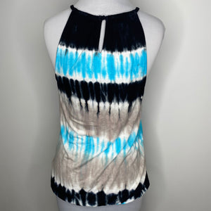 INC International Concepts Blue Tie Dye Studded Top (NWT)