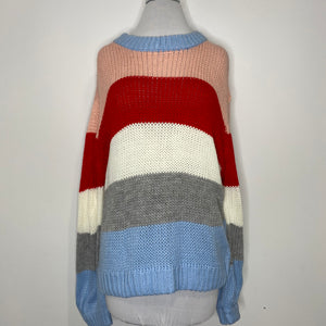 Elodie Heavyweight Knitted Stripe Sweater (NWT)