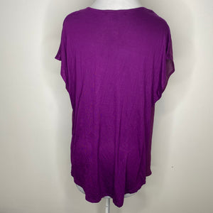 INC International Concepts Mixed-Media Dolman Blouse in Purple Paradise Size XL (NWT)
