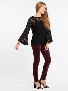 NIC+ZOE Lovely Lace Top Size S (NWT)