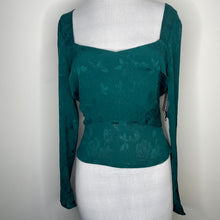 Load image into Gallery viewer, Leith Smocked Back Satin Jacquard Top Size M (NWT)