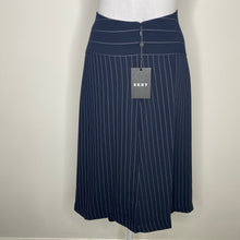 Load image into Gallery viewer, DKNY Pinstripe Midi Skirt Size 4 (NWT)