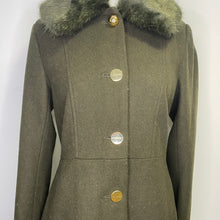 Load image into Gallery viewer, Laundry By Shelli Segal Faux Fur Trim Wool Blend Coat Size S (NWT)