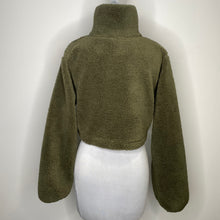Load image into Gallery viewer, Topshop High Pile Fleece Quarter Zip Pullover Size 4 (NWT)