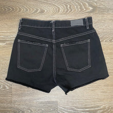 Load image into Gallery viewer, Carmar Paris Hi Rise Destroyed Black Denim Shorts Size 27 (NWT)