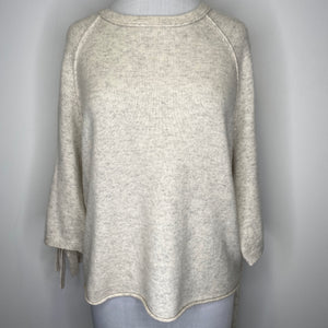 Velvet by Graham & Spencer Cashmere Tie Sleeve Sweater Size XS