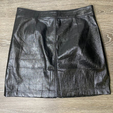 Load image into Gallery viewer, Minkpink Faux Leather Mini A-Line Skirt Size M (NWT)