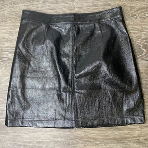 Minkpink Faux Leather Mini A-Line Skirt Size M (NWT)
