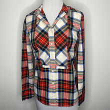 Load image into Gallery viewer, J. Crew Festive Plaid Button Down Shirt Size 00
