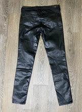 Load image into Gallery viewer, AG The Legging Ankle in Leatherette Super Black Size 28 (NWT)