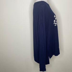 BP. Cozy Lounge Top in Navy Snowflake (NWT)