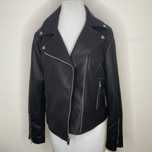 Load image into Gallery viewer, French Connection Faux Leather Moto Jacket Size M (NWT)