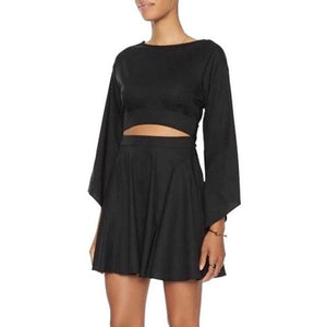 Intermix Cutout Bell Sleeve Dress Size Petite