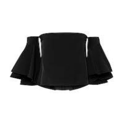 Milly Black Off The Shoulder Blouse Size 0