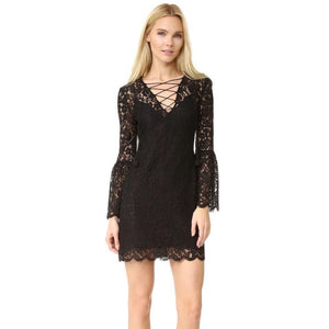 Rachel Zoe Megali Lace-Up Mini Dress Size 6