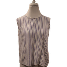 Load image into Gallery viewer, John Eshaya Striped Sleeveless Top Size S (NWT)