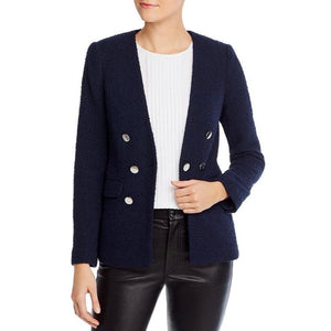 Calvin Klein Tweed 7-Button Blazer in Twilight Size 12 (NWT)