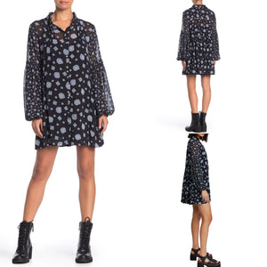 Free People Turn Turn Mock Neck Mini Dress Size S (NWT)