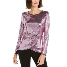 Load image into Gallery viewer, INC International Concepts Twisted Sequined Top (NWT)
