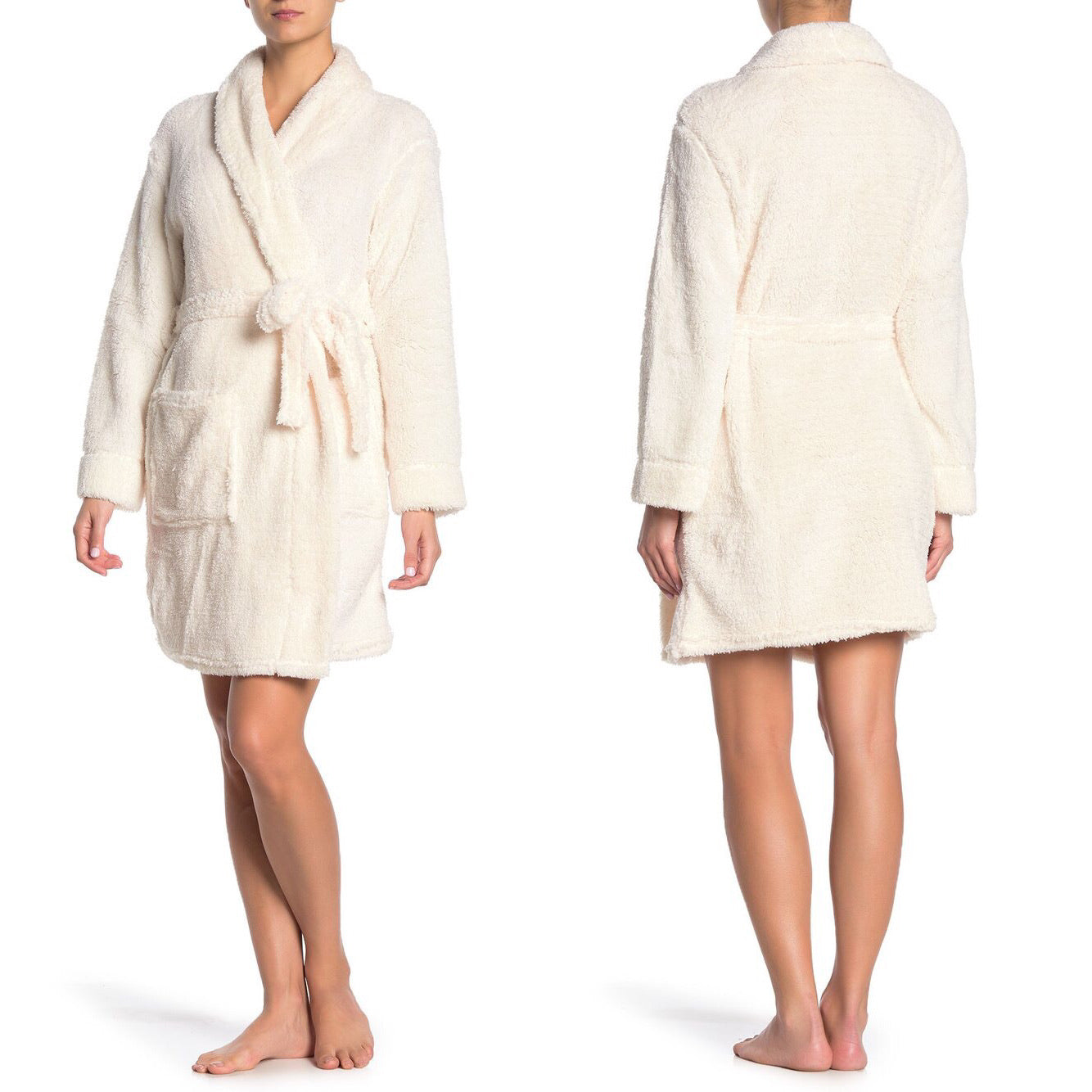 Tahari Sparkle Faux Shearling Robe in Pale Rose Size S/4 (NWT)