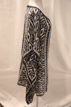 Load image into Gallery viewer, Bella Tu Printed Jeweled Tunic Caftan Size XS