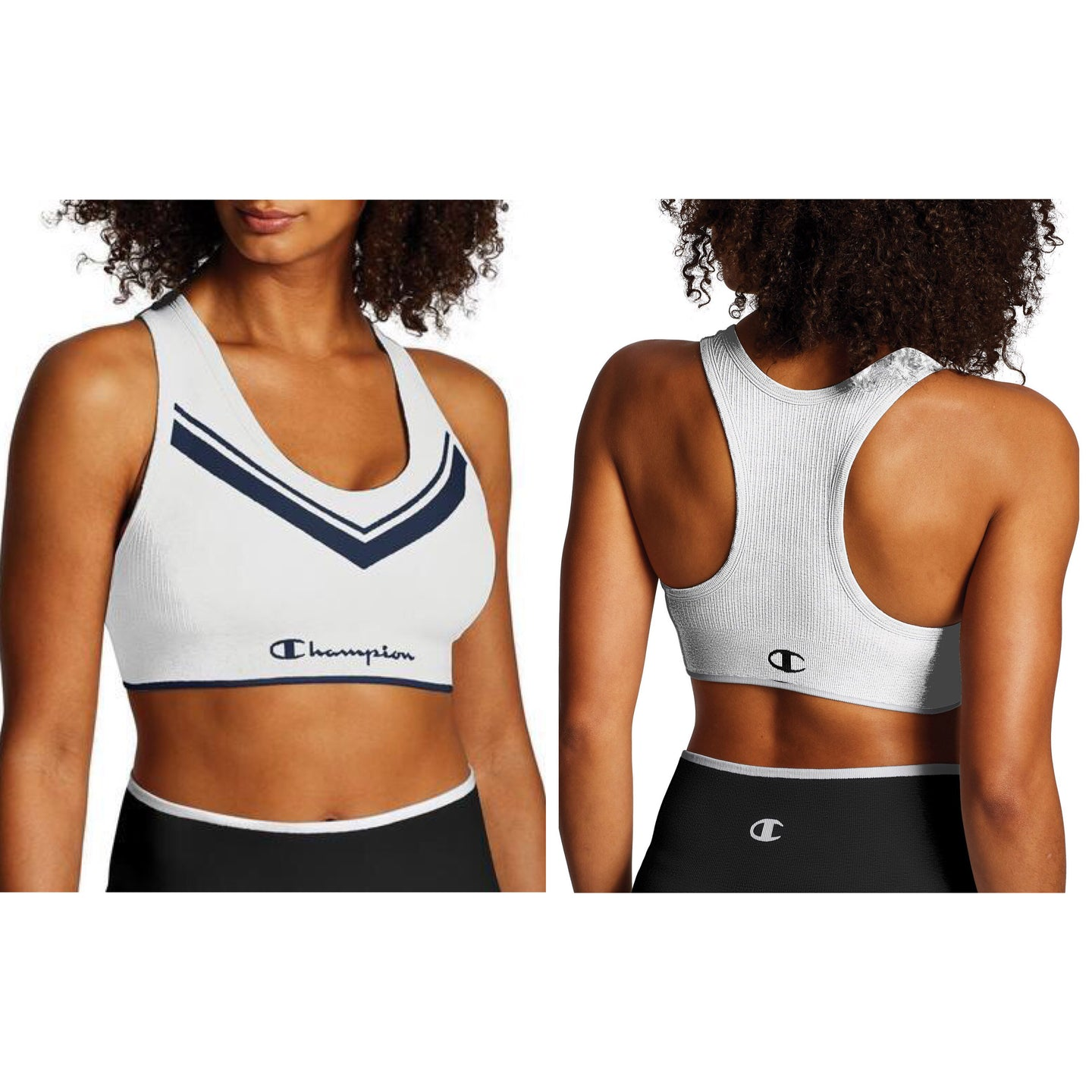 Champion The Sweatshirt Chevron Racerback Sports Bra Size S (NWT)