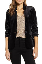Load image into Gallery viewer, Gibson x Hi Sugarplum! Holiday Mimi Velvet Blazer Size XS (NWT)