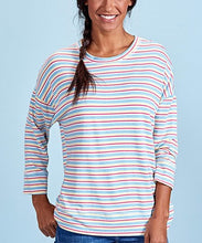 Load image into Gallery viewer, Fresh Produce Natural Shoreline Stripe Callie Sweatshirt Shirt Size XS/S (NWT)