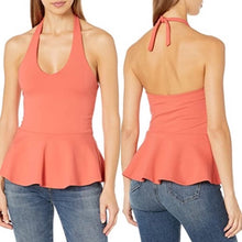 Load image into Gallery viewer, Susana Monaco Fused Flare Halter Top Size M (NWT)