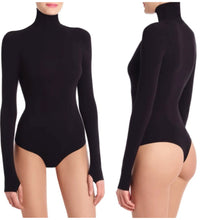 Load image into Gallery viewer, Commando Ballet Body Turtleneck Thong Bodysuit One Size (NWT)
