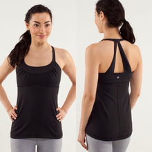 Load image into Gallery viewer, Lululemon Scoop Me Up Black Tank Size 8/M