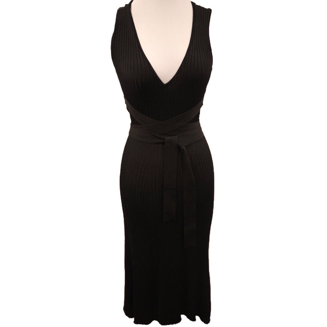 BCBGMAXAZRIA Black Knit Sleeveless Dress Size XXS