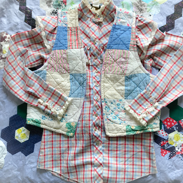 Custom order Quilt Vest - Quilt supplied by us