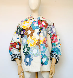 Red rose patchwork jacket